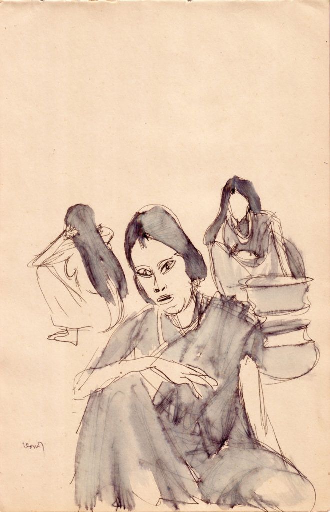 <em<strong>Untitled</strong></em>. Pen and ink wash on paper, 6.75 x 10.5 inches, c.1984