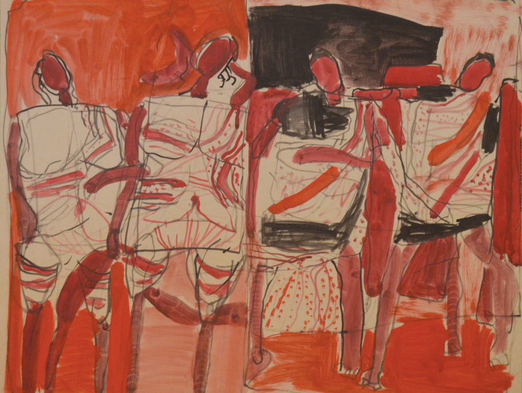 <em><strong>Untitled</strong></em>. Watercolour and ink on paper, 18.5 x 14 inches, 1962-63