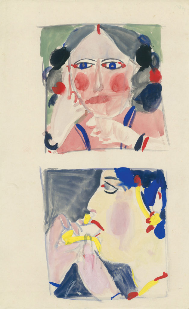 <em><strong>Untitled</strong></em>. Watercolour on paper 8 x 13 inches, 1979
