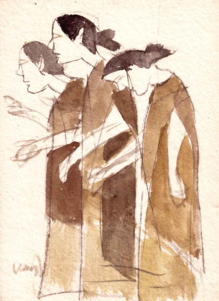 <em><strong>Untitled</strong></em>. Watercolour on paper, 5.25 x 7.5 inches, 1994