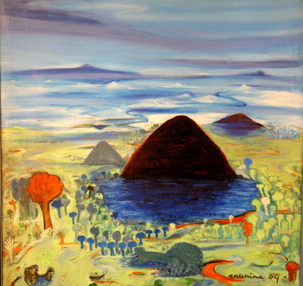 <em><strong> Untitled</strong></em>. Acrylic on canvas, 44 x 44 inches, 2004