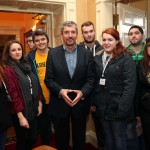 Charlie Bird with a selection of NWRC journalism students at the first ever Teaching Divided Histories conference