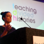 Emma McDermott, Teaching Divided Histories' project manager, welcomes delegates to the TDH conference